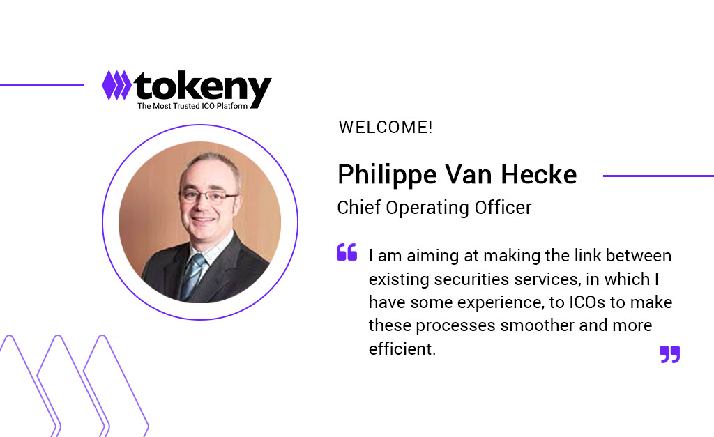 Philippe Van Hecke Joins Tokeny as COO