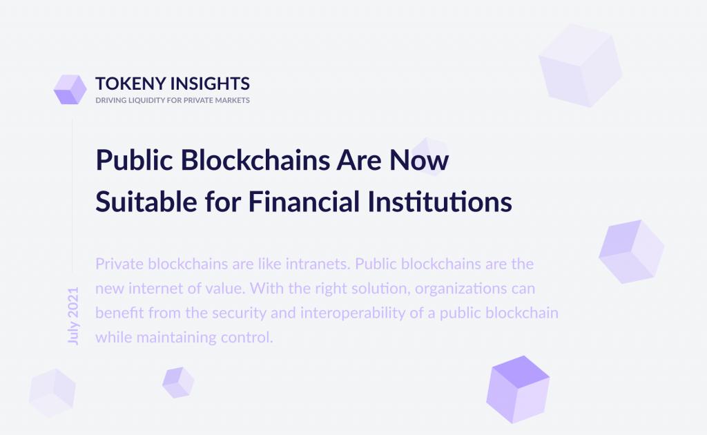 Public blockchain for financial institutions
